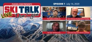 SkiTalk Live with Dan Egan, Episode 1: Justin Koski, James Niehues, Phil Pugliese (July 16, 2020, 53 min).