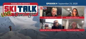 SkiTalk Live with Dan Egan, Episode 4: Kai Jones and Todd Jones, Tricia Pugliese, and David Abramowitz (Sep 23, 2020, 35 min).