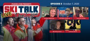SkiTalk Live with Dan Egan, Episode 5: Mike Hattrup, Ian Harvey, Justin Koski, and Phil Pugliese (Oct. 7, 2020, 47 min).