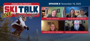SkiTalk Live with Dan Egan, Episode 8: Jessica Sobolowski-Quinn, Lisa Lynn, Tricia and Phil Pugliese (Nov. 18, 2020, 44 min).