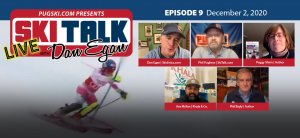 SkiTalk Live with Dan Egan, Episode 9: Peggy Shinn, Phil Bayly, Asa McKee, Phil Pugliese (Dec. 2, 2020, 55 min).