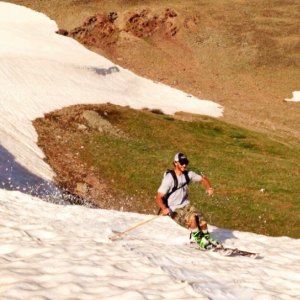 Summer skiing